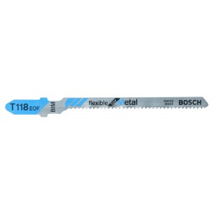 BOSCH T118EOF (pkt of 5) Flexible for Metal - 83mm
