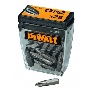 DEWALT DT71522 PH2 Screwdriver bits - (Tic Tac box of 25)