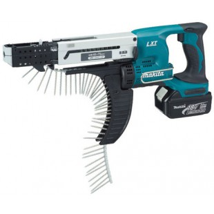 MAKITA DFR750RME 18v Autofeed screwdriver - 5mm hex drive