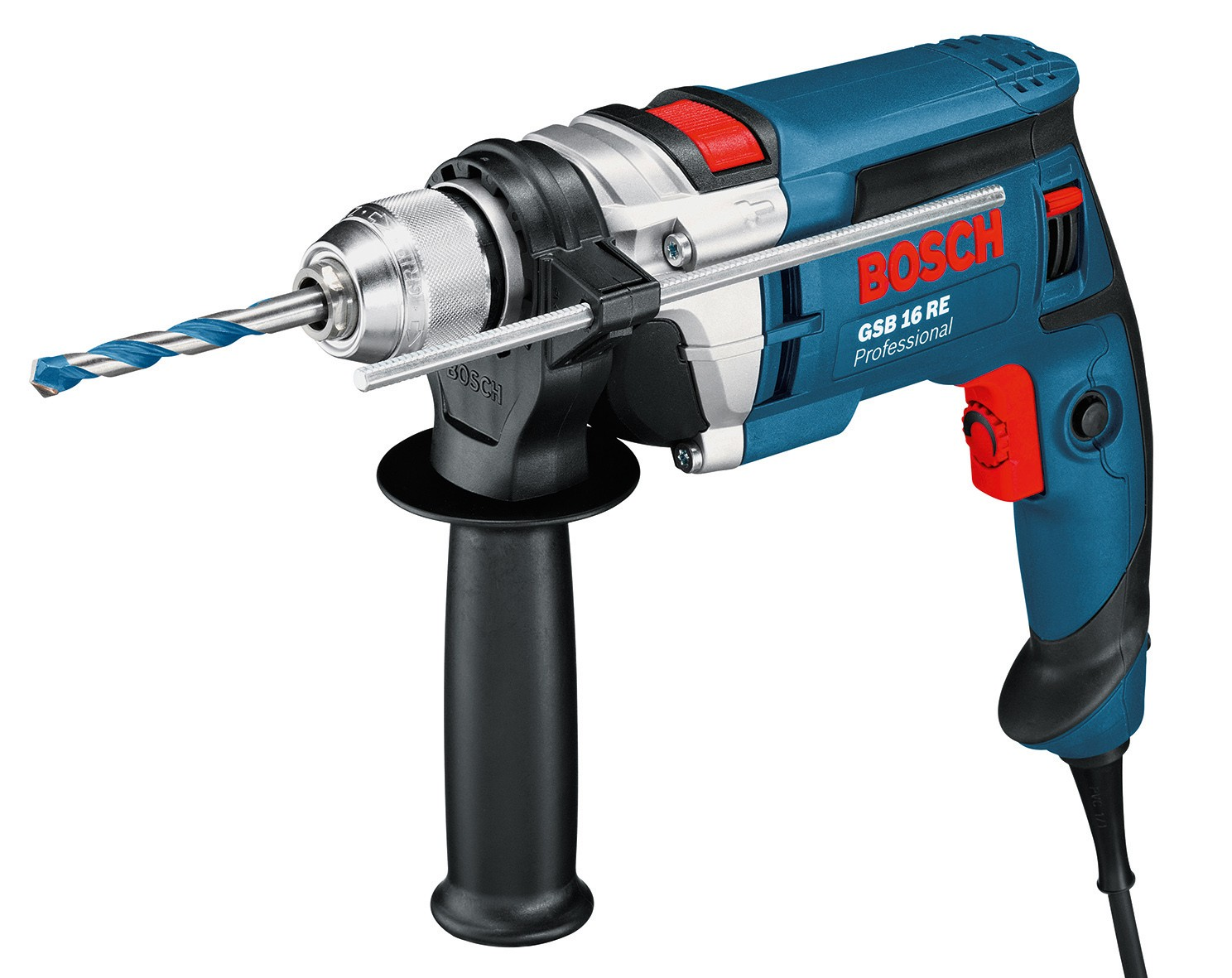bosch gsb 16 re 240v percussion drill 13mm keyless chuck howe tools uk. Black Bedroom Furniture Sets. Home Design Ideas
